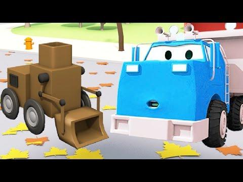 Строительная Бригада: Самосвал, Кран и Экскаватор строят Робот-уборщик в Автомобильном Городе