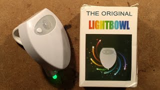 USB rechargeable poop illuminator with piss-flap.