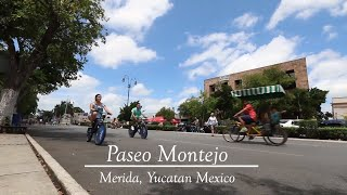 A Sunday Bicycle Ride Down Paseo Montejo - Merida Yucatan Mexico - Montando Bicicleta BiciRuta