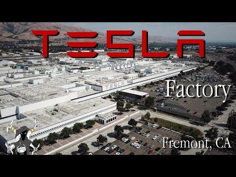 Tesla Factory Flyover - Fremont California