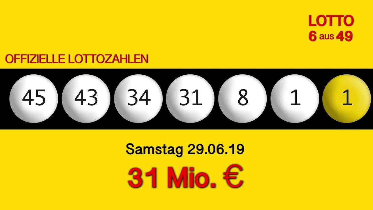 Lottozahlen Vom 29.06 19