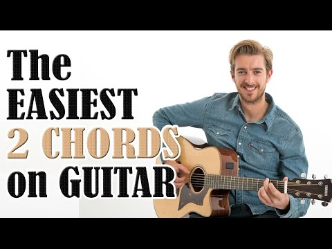 Beginners First Guitar Lesson  The EASIEST 2 Chords On Guitar