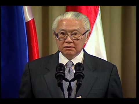 Press Statement With President Tony Tan Keng Yam 4 3 2014