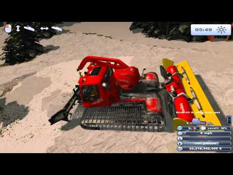 Ski Region Simulator 2012 • Spring grooming (pistenbullyplay)