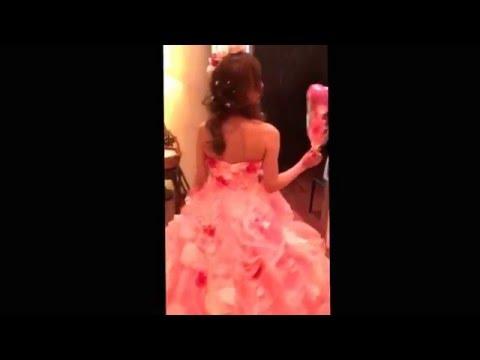 ピンクの花ドレス♡