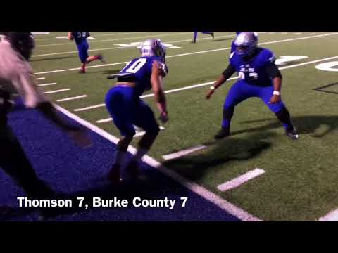 Burke County 27, Thomson 24 - 1st half highlights