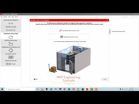 Cold room design using Danfoss cool selector software (cold storage room heat load calculation)