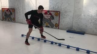 Trénink hokejových dovedností s Viktorem