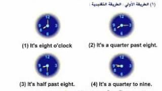 time  التعبير عن الوقت في اللغة الانجليزية