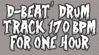 D BEAT DRUM TRACK - 170BPM - ONE HOUR!