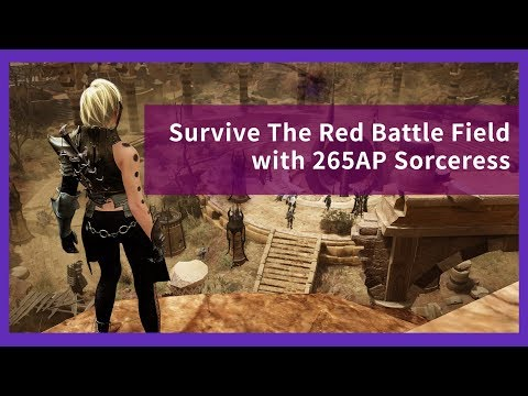 Black Desert Online PvP – Survive The Red Battle Field with 265AP Sorceress