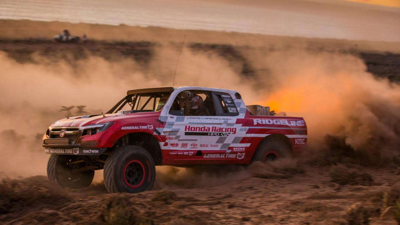 Honda Ridgeline Baja Race Truck Conquers the 2015 Baja 1000 - YouTube