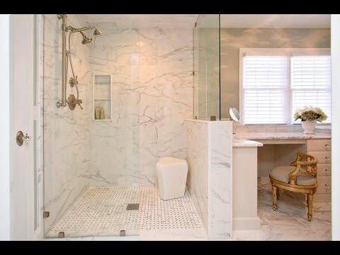 NEW Level Entry Shower Ideas - YouTube on zero entry bathtubs, zero entry spa, zero barrier shower, ada shower design, waterfall shower design, zero threshold shower,
