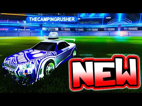 USING THE NEW BEST DLC CAR!! ( GTR Ranked Rocket League )