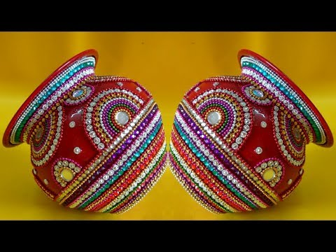 DIY | Kalash Decoration for Diwali/Navratri Pooja | Kalash for Wedding | Matki decoration