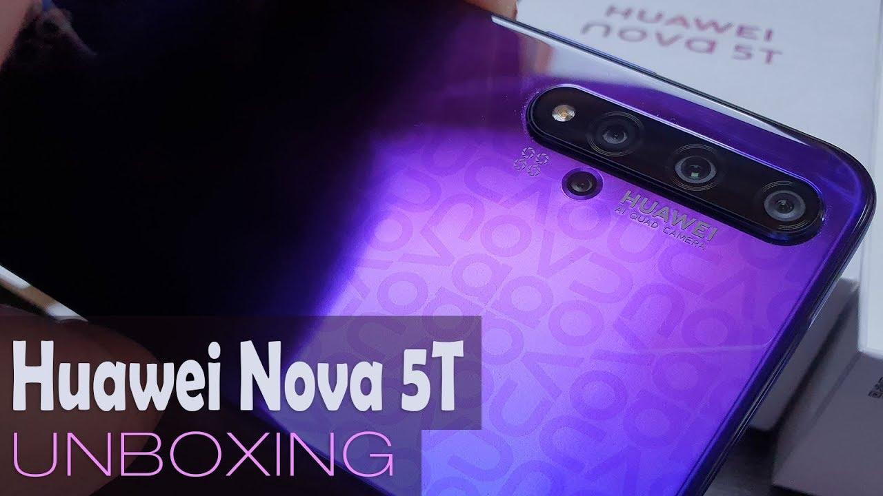 Huawei Nova 5T Unboxing în Română (Telefon cu 4 camere, cameră Macro, încărcare rapidă)