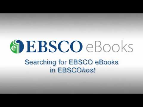 Searching EBSCO eBooks - Tutorial