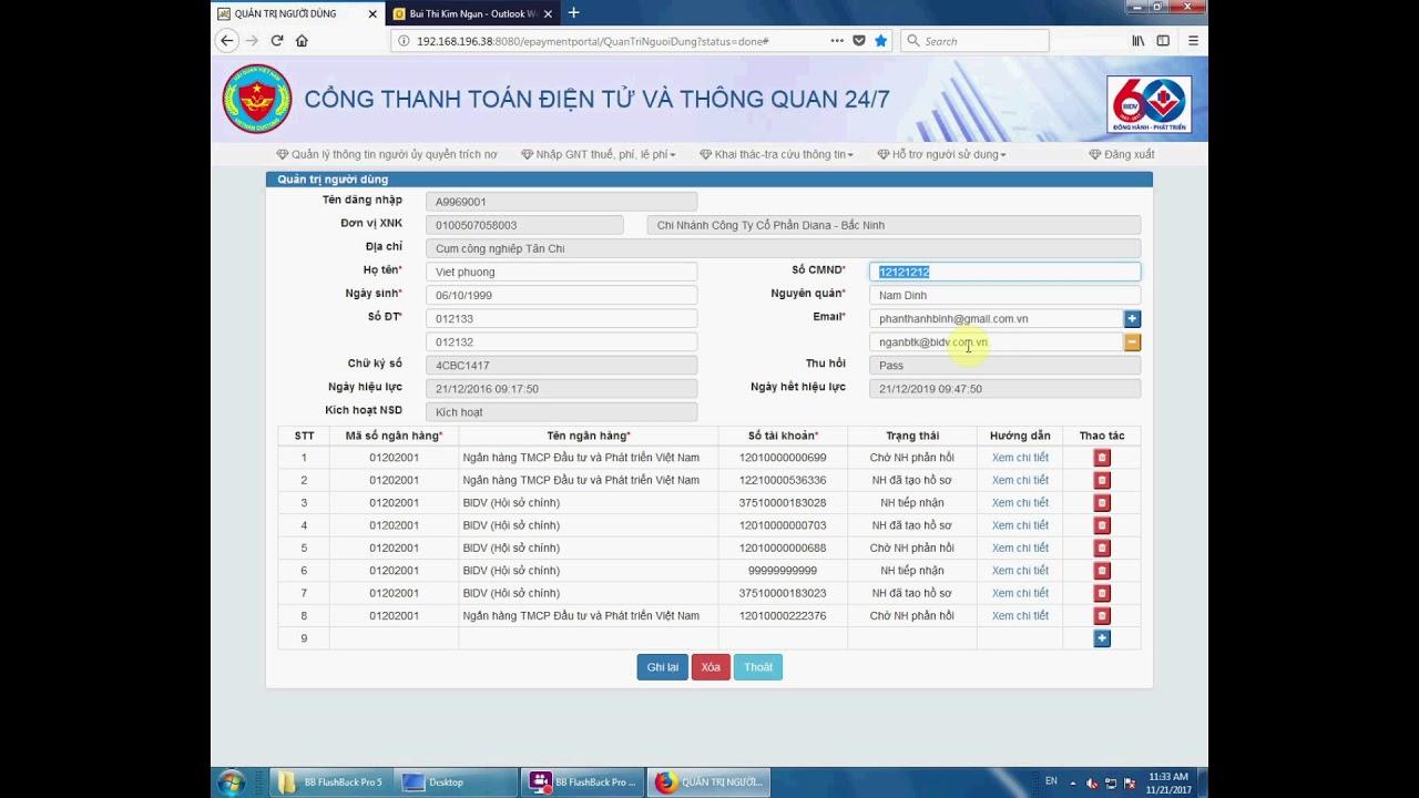 Nộp thuế hải quan 24/7 qua BIDV