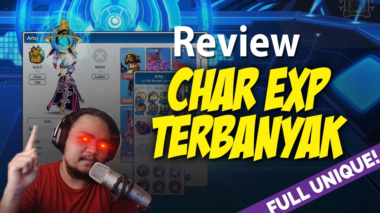 Review Char Rank 1 EXP Lost Saga Indonesia! Unique nya lengkap cuy!