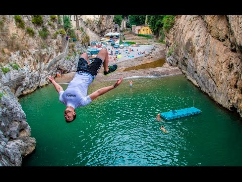 Behind the Scenes - Cliff Jumping Italy - Creating a Contiki Legend