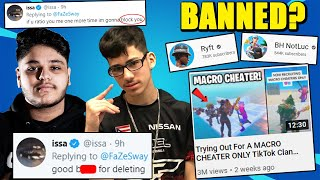Fortnite BANS Macro Cheating? Notluc & Ryft In Trouble? FaZe Sway CANNOT Be Stopped...