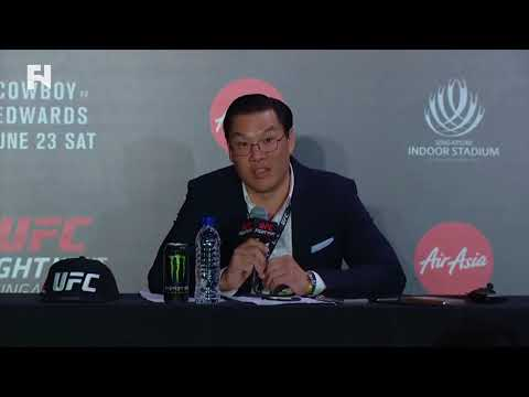 UFC Fight Night Singapore: UFC Exec Kevin Chang Post-Event Press Conference