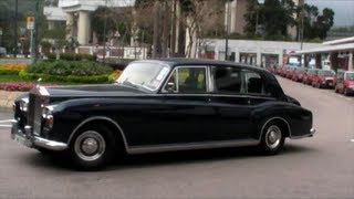 Vintage Rolls Royce Phantom 1960s. Seen on the Road in Hong Kong