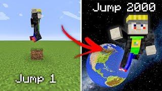 minecraft, but every jump I jump higher