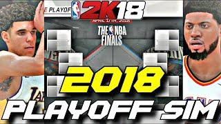 SIMULATING THE 2018 NBA PLAYOFFS IN NBA2K18!! YOU WON'T BELIEVE THIS!!