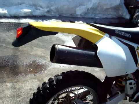 2000 DRZ400 with Stock Exhaust Tip Opened