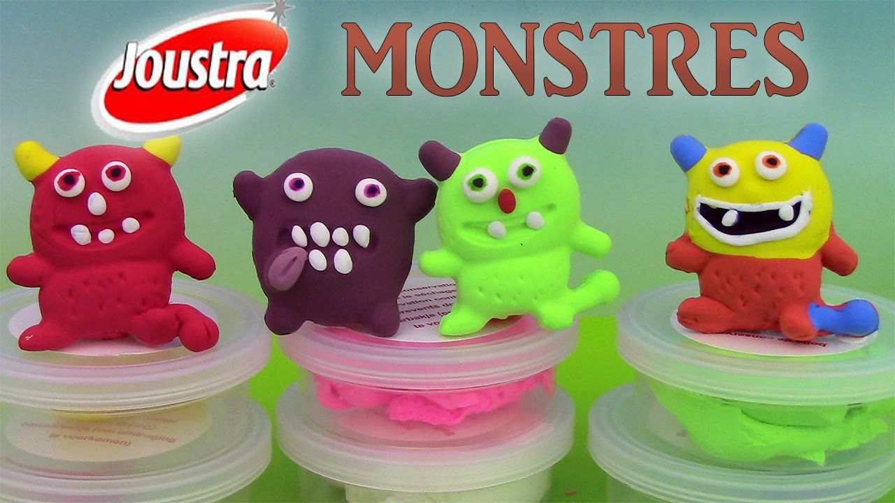 Pate A Modeler Magique Joustra Monstres P Tit Monstre Play Dough Monsters Youtube