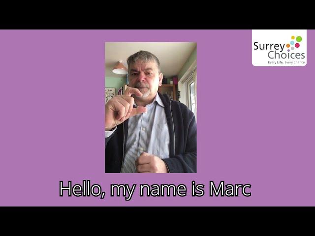 Marc's message for Deaf Awareness Week