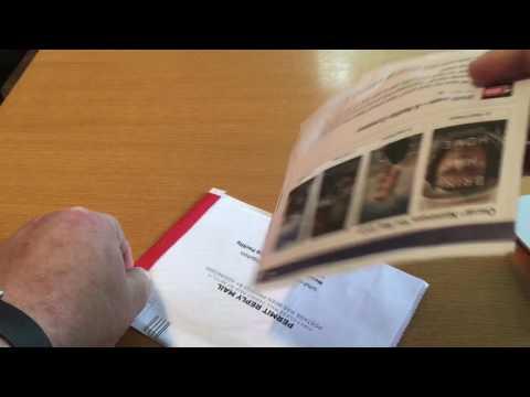 Unboxing: a Netflix DVD envelope