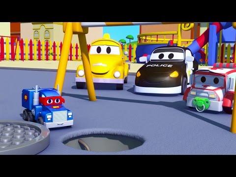 Carl el Super Camión y el Camioncito en Auto City | Dibujos animados para niños
