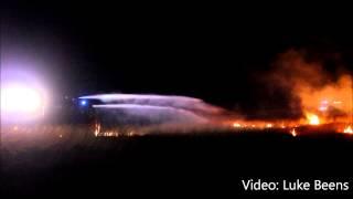 Grote brand verwoest 2 hectare hei langs Pomphulweg Hoog Soeren 07 01 2014