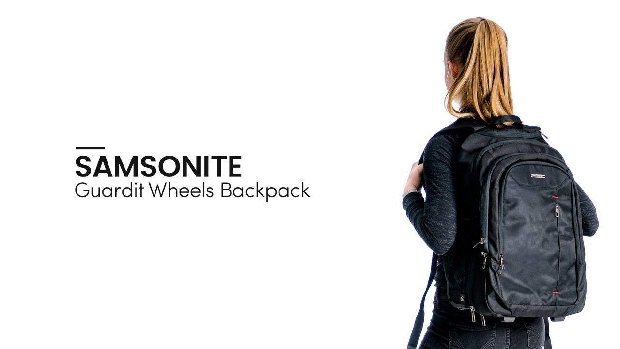 d0499adcc03 Samsonite Guardit Laptop Backpack Wheels - Bagageonline - YouTube