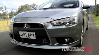 2013 Mitsubishi Lancer Ralliart Sportback engine sound and 0-100km/h