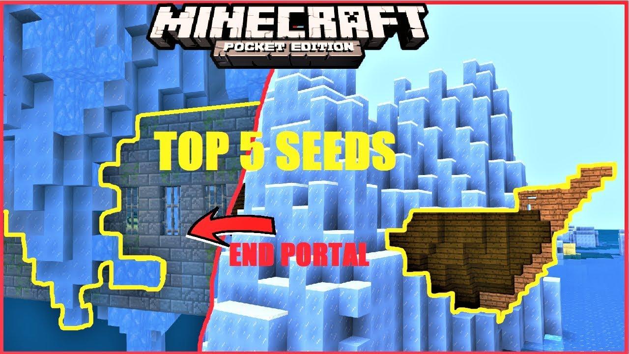 Best Minecraft Seeds 2020 Minecraft PE   TOP 5 SEEDS for 2019 ! ICEBERG in END PORTALROOM