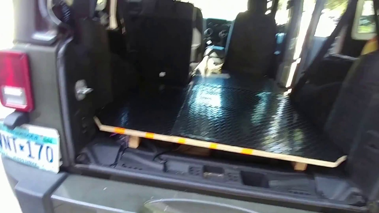 Jeep Wrangler Jk >> Jeep Wrangler sleeping platform. Sleeping in your jeep. - YouTube