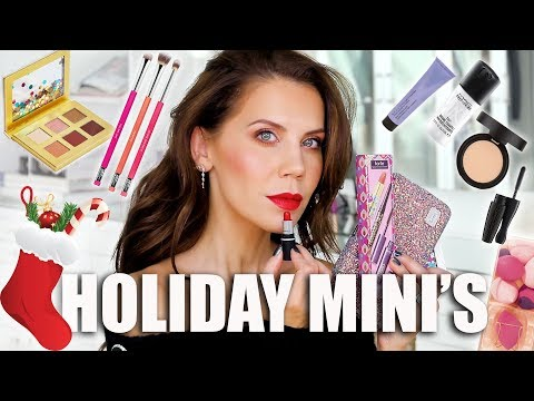 FULL FACE of STOCKING STUFFER MAKEUP-MINI'S