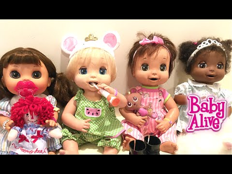 5751ab574bc3 Trying New Kmart Shoes on our Big Baby Alive Dolls - YouTube