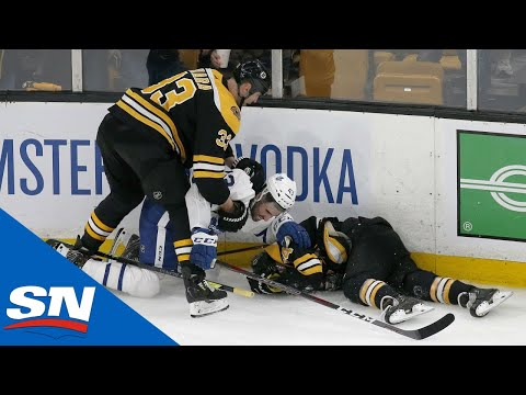 All Big Hits & Scrums From Physical Game 2 Between Maple Leafs And Bruins
