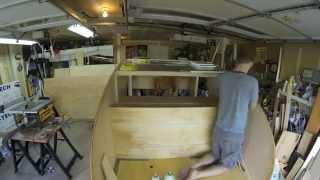 Denizen Teardrop Trailer Build — Galley Bulkhead Installation