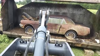 Classic Ford Mustangs Get Crushed