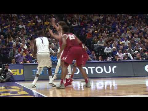 RAW HIGHLIGHTS | LSU Basketball falls to Alabama 74-66