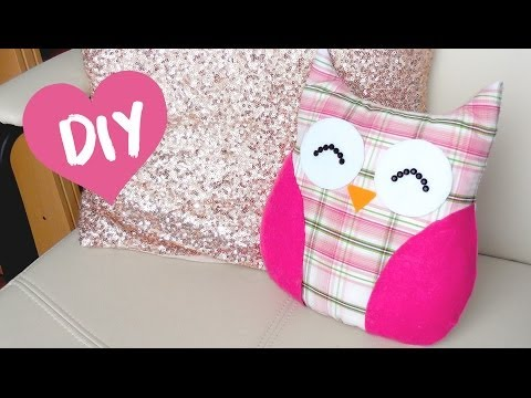 Diy Room Decor Easy Owl Pillow! Sew/no Sew