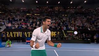 Eksplozija emocija Novaka Đokovića nakon osvojene titule