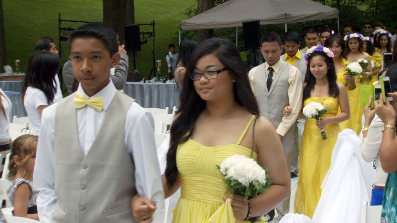 Toronto Philippine Groom Bridle Party Wedding Processional