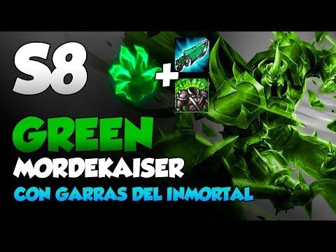 Tanky GREEN Mordekaiser    ¡CURAS INSANAS DE 10% A 100%!    S8 League of Legends Gameplay en Español