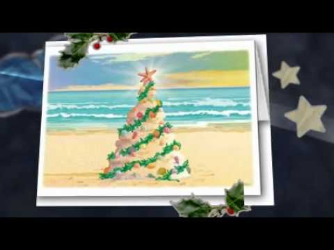 beach themed christmas cards - Beach Themed Christmas Cards